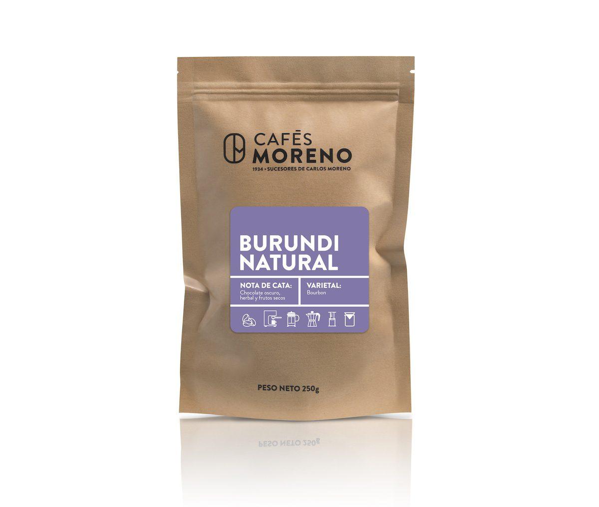 café Burundi natural cafes moreno
